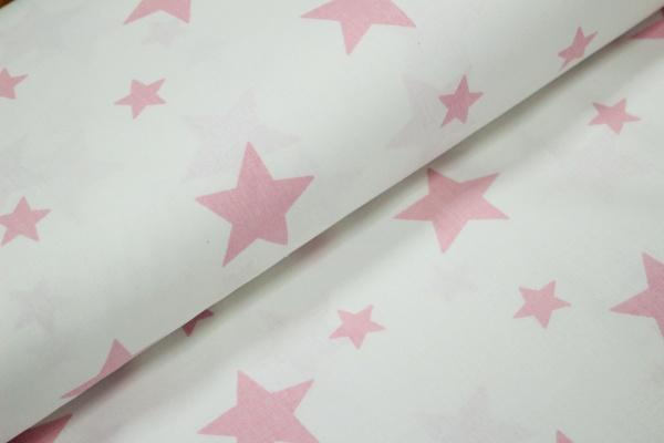 Ranforce alb cu stele roz