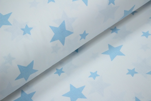 Ranforce alb cu stele bleu